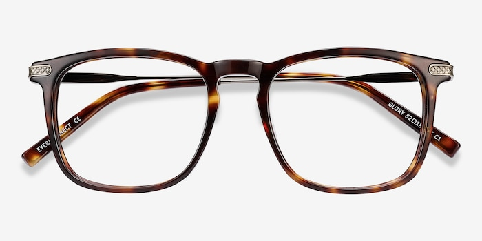 Glory Tortoise Acetate Eyeglass Frames from EyeBuyDirect, Closed View