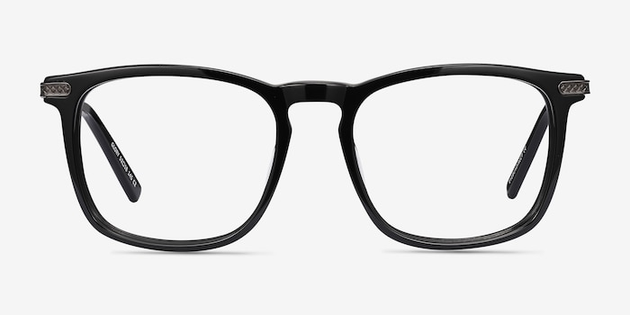 Glory Black Acetate Eyeglass Frames from EyeBuyDirect, Front View