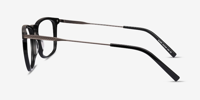 Glory Black Acetate Eyeglass Frames from EyeBuyDirect, Side View