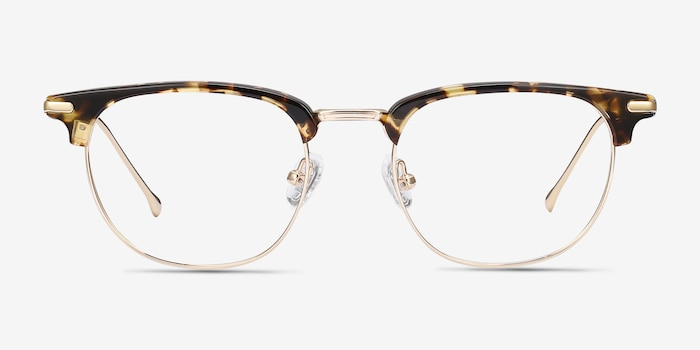 Relive Tortoise Golden Acetate Eyeglass Frames from EyeBuyDirect, Front View