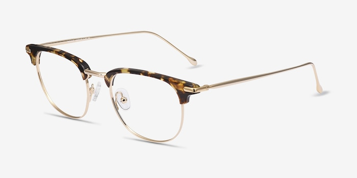 Relive Tortoise Golden Acetate Eyeglass Frames from EyeBuyDirect, Angle View