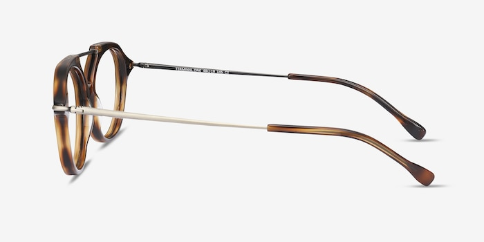 Terminal One Tortoise Bronze Acetate Eyeglass Frames from EyeBuyDirect, Side View