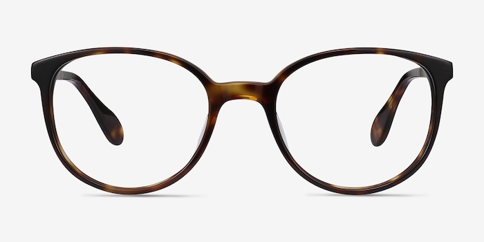 Lucy Tortoise Acetate Eyeglass Frames from EyeBuyDirect, Front View