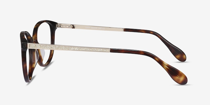 Lucy Tortoise Metal Eyeglass Frames from EyeBuyDirect, Side View