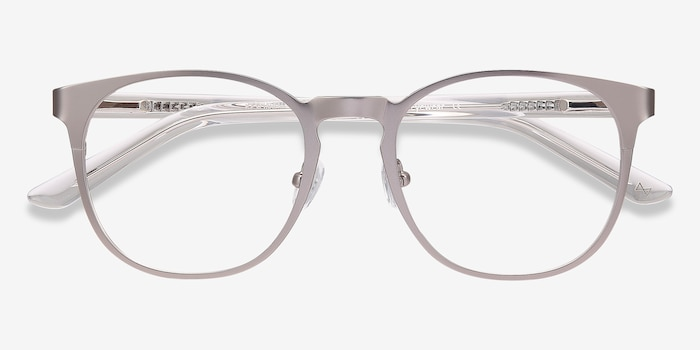 Resonance Gunmetal Acetate Eyeglass Frames from EyeBuyDirect, Closed View