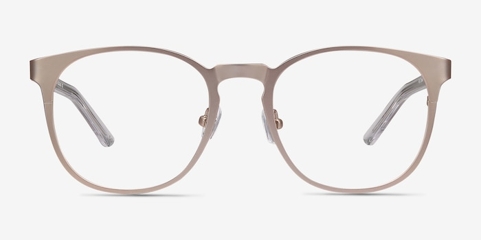 Resonance Rose Gold Acetate Eyeglass Frames from EyeBuyDirect, Front View