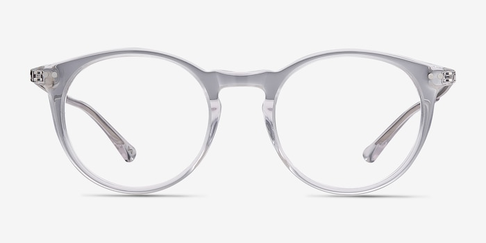 Luminous Clear Acetate Eyeglass Frames from EyeBuyDirect, Front View