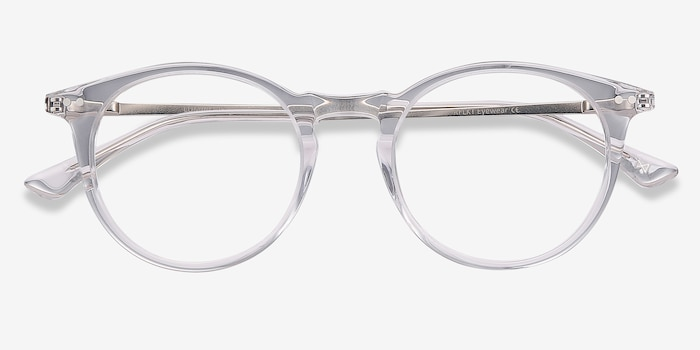 Luminous Clear Acetate Eyeglass Frames from EyeBuyDirect, Closed View