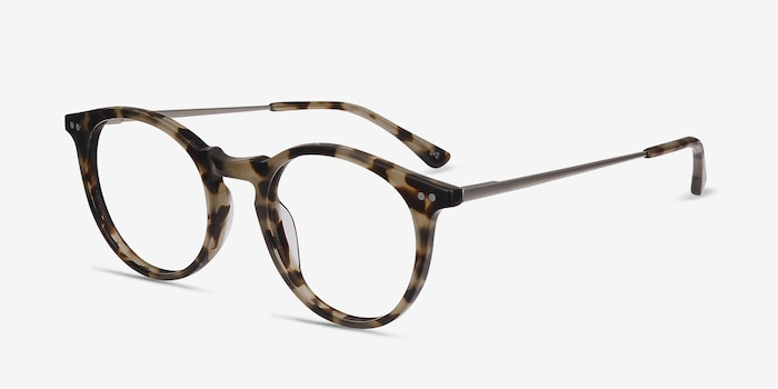 Luminous Tortoise Metal Eyeglass Frames from EyeBuyDirect, Angle View