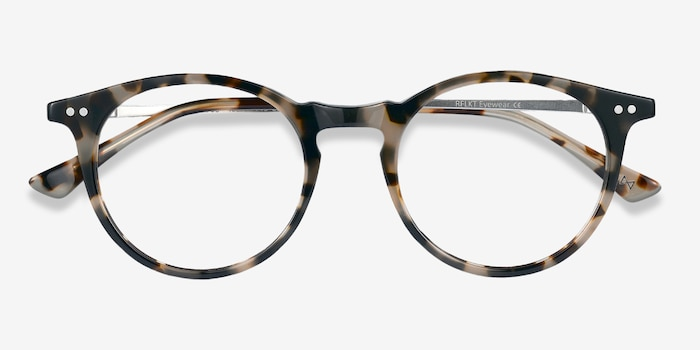 Luminous Tortoise Metal Eyeglass Frames from EyeBuyDirect, Closed View