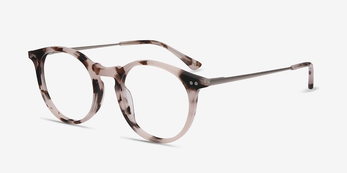 Luminous Pink Tortoise Metal Eyeglass Frames from EyeBuyDirect, Angle View
