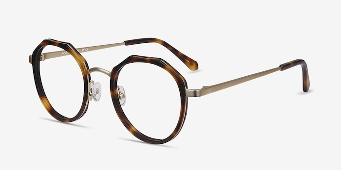 Accent Tortoise Acetate Eyeglass Frames from EyeBuyDirect, Angle View
