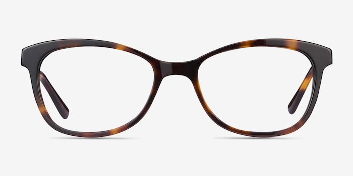 Ripple Tortoise Acetate Eyeglass Frames from EyeBuyDirect, Front View