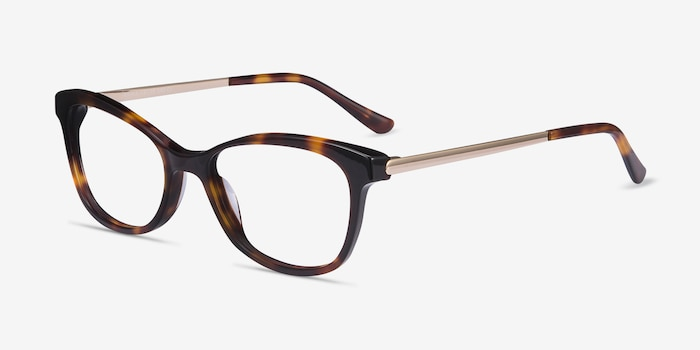 Ripple Tortoise Metal Eyeglass Frames from EyeBuyDirect, Angle View