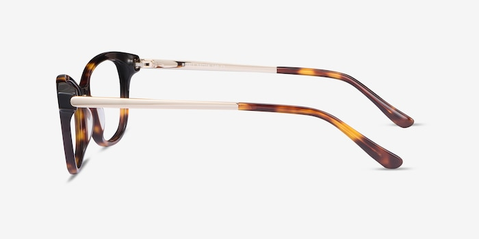 Ripple Tortoise Metal Eyeglass Frames from EyeBuyDirect, Side View