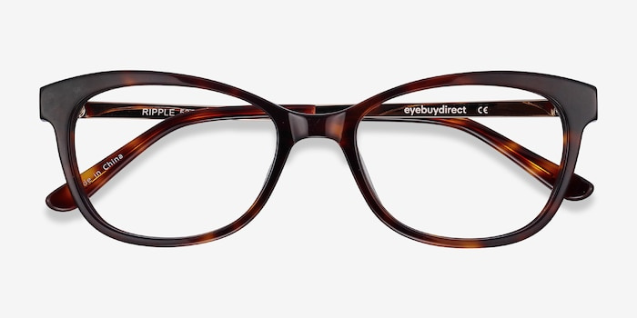 Ripple Tortoise Acetate Eyeglass Frames from EyeBuyDirect, Closed View
