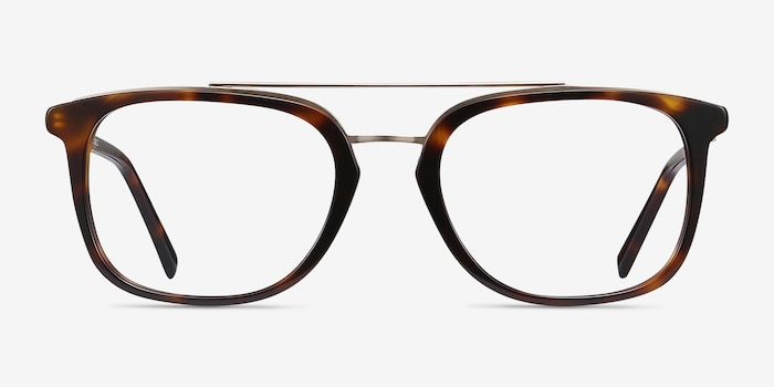Guild Tortoise Acetate Eyeglass Frames from EyeBuyDirect, Front View