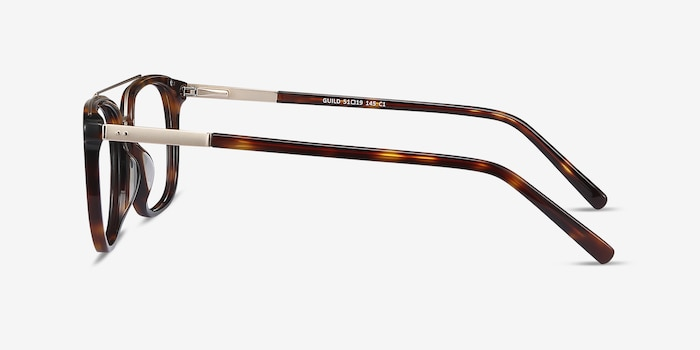 Guild Tortoise Acetate Eyeglass Frames from EyeBuyDirect, Side View