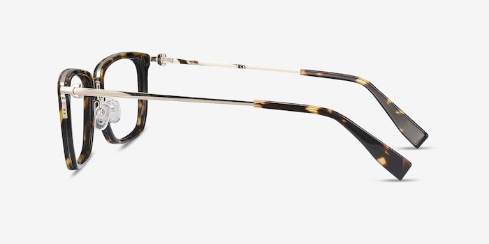Wayback Tortoise Acetate Eyeglass Frames from EyeBuyDirect, Side View