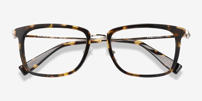 Wayback Tortoise Acetate Eyeglass Frames from EyeBuyDirect, Closed View
