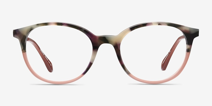 Martini Tortoise Acetate Eyeglass Frames from EyeBuyDirect, Front View