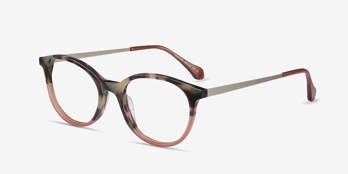Martini Tortoise Acetate Eyeglass Frames from EyeBuyDirect, Angle View