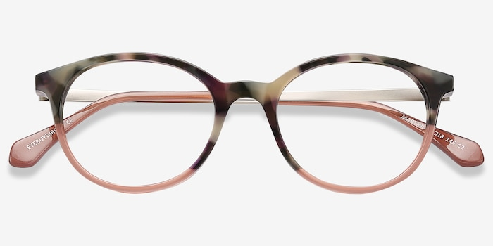 Martini Tortoise Acetate Eyeglass Frames from EyeBuyDirect, Closed View