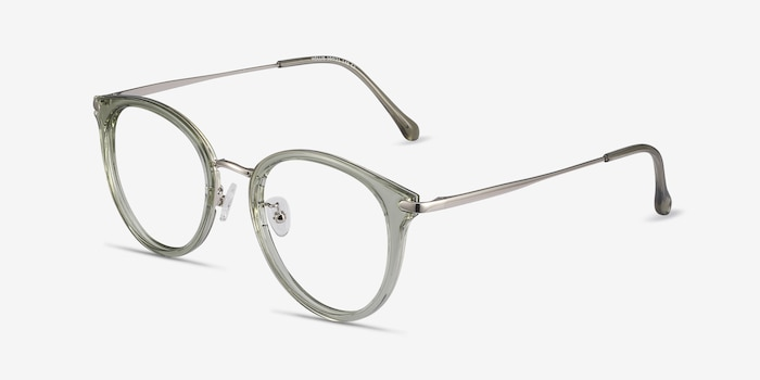 Hollie Green Metal Eyeglass Frames from EyeBuyDirect, Angle View