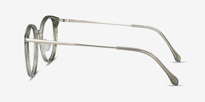 Hollie Green Metal Eyeglass Frames from EyeBuyDirect, Side View
