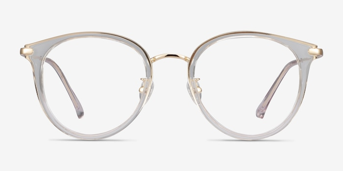 Hollie Clear Metal Eyeglass Frames from EyeBuyDirect, Front View