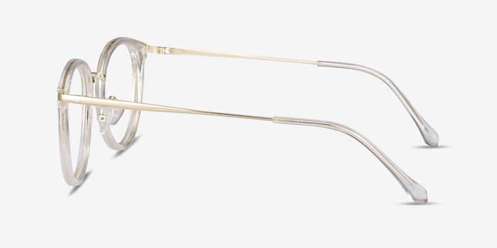 Hollie Clear Plastic-metal Eyeglass Frames from EyeBuyDirect, Side View