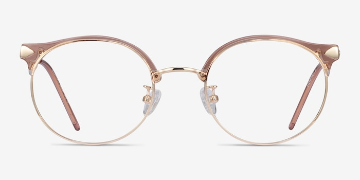 Moon River Clear Pink Plastic-metal Eyeglass Frames from EyeBuyDirect, Front View