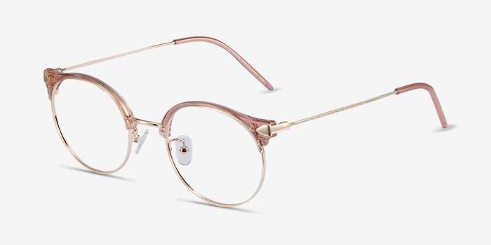 Moon River Clear Pink Plastic-metal Eyeglass Frames from EyeBuyDirect, Angle View