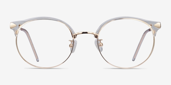 Moon River Clear Metal Eyeglass Frames from EyeBuyDirect, Front View