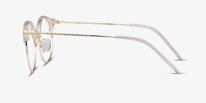 Moon River Clear Metal Eyeglass Frames from EyeBuyDirect, Side View