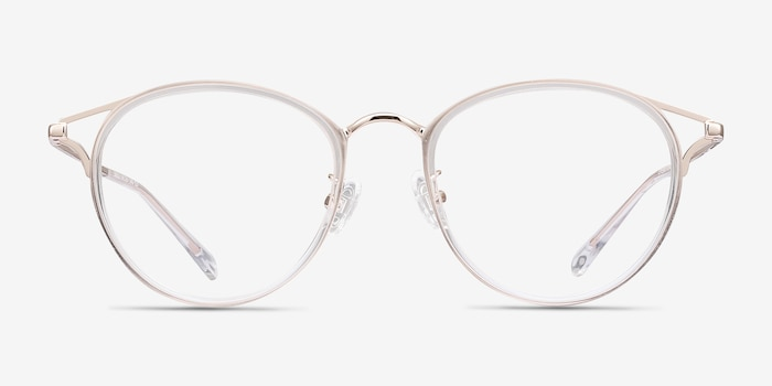 Dazzle Clear Metal Eyeglass Frames from EyeBuyDirect, Front View