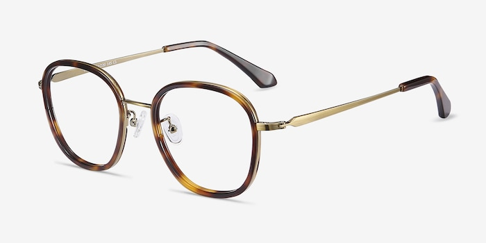 Beyond  Tortoise Acetate Eyeglass Frames from EyeBuyDirect, Angle View