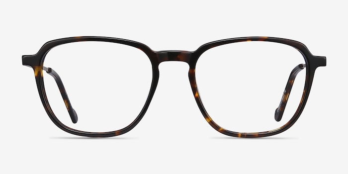 The Fan Tortoise Acetate-metal Eyeglass Frames from EyeBuyDirect, Front View