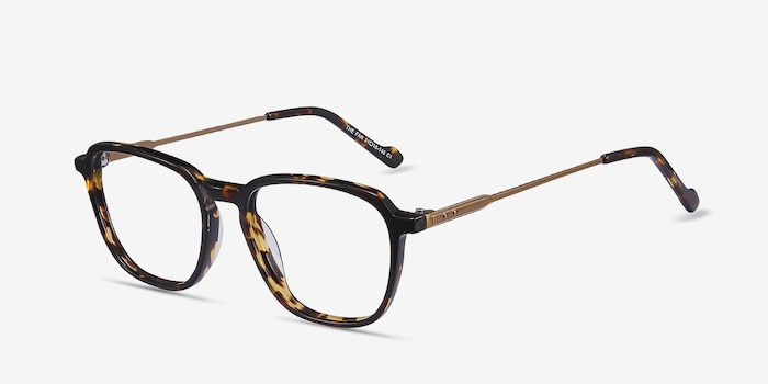 The Fan Tortoise Acetate-metal Eyeglass Frames from EyeBuyDirect, Angle View