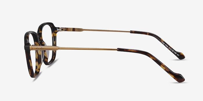 The Fan Tortoise Acetate Eyeglass Frames from EyeBuyDirect, Side View