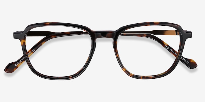 The Fan Tortoise Acetate-metal Eyeglass Frames from EyeBuyDirect, Closed View
