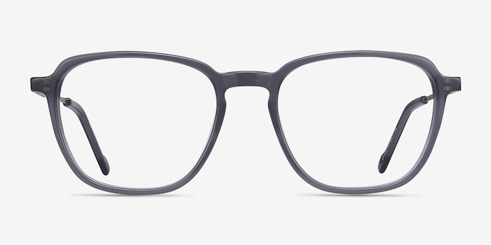 The Fan Gray Acetate Eyeglass Frames from EyeBuyDirect, Front View