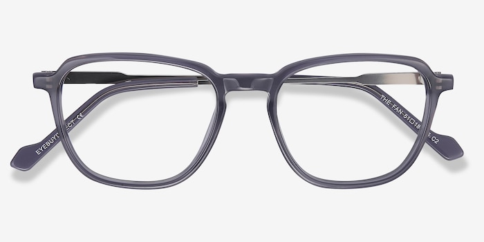 The Fan Gray Acetate Eyeglass Frames from EyeBuyDirect, Closed View