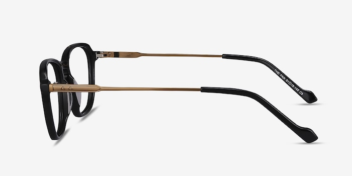 The Fan Black Acetate Eyeglass Frames from EyeBuyDirect, Side View