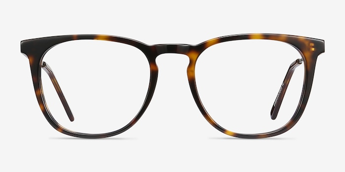 Vinyl Tortoise Acetate-metal Eyeglass Frames from EyeBuyDirect, Front View