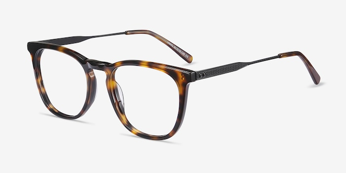 Vinyl Tortoise Acetate-metal Eyeglass Frames from EyeBuyDirect, Angle View