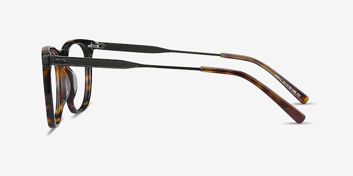Vinyl Tortoise Acetate-metal Eyeglass Frames from EyeBuyDirect, Side View