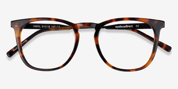Vinyl Tortoise Acetate-metal Eyeglass Frames from EyeBuyDirect, Closed View