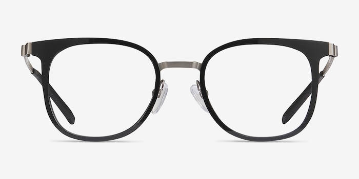 Rotem Black Metal Eyeglass Frames from EyeBuyDirect, Front View