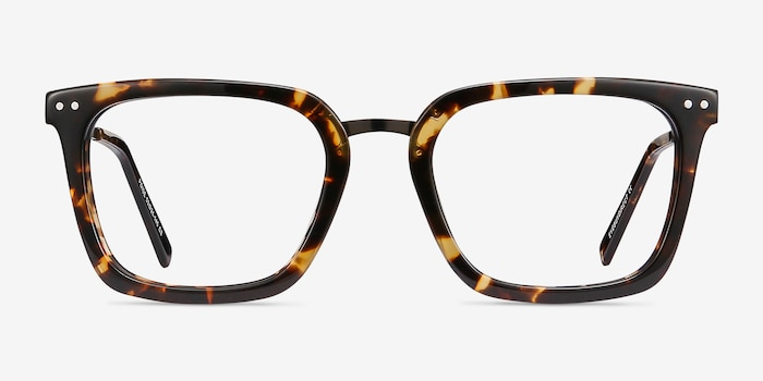 Poise Tortoise Acetate Eyeglass Frames from EyeBuyDirect, Front View